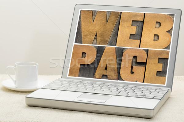 Háló oldal tipográfia internet klasszikus magasnyomás Stock fotó © PixelsAway