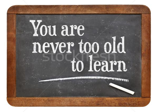 決して 古い 学ぶ やる気を起こさせる 単語 ヴィンテージ ストックフォト © PixelsAway