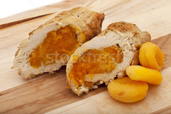 turkey breast cooked with apricots Stock photo © PixelsAway