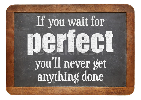 идеальный никогда слов мудрость Vintage Сток-фото © PixelsAway