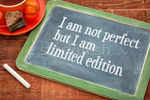 I am not perfect but limited edition Stock photo © PixelsAway