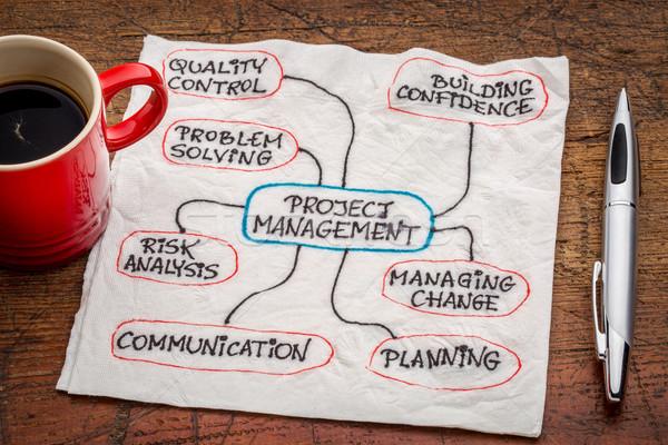 project management flow chart or mindmap Stock photo © PixelsAway