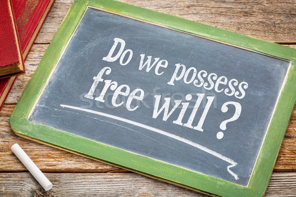 Do we possess free wil question on blackboard Stock photo © PixelsAway