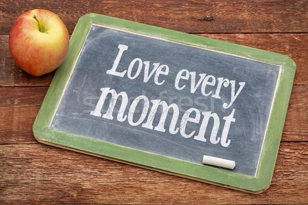 Stok fotoğraf: Sevmek · an · tahta · pozitif · sözler