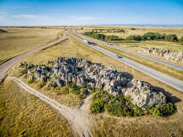 aerial view of Natural Fort in Colorado Stock photo © PixelsAway
