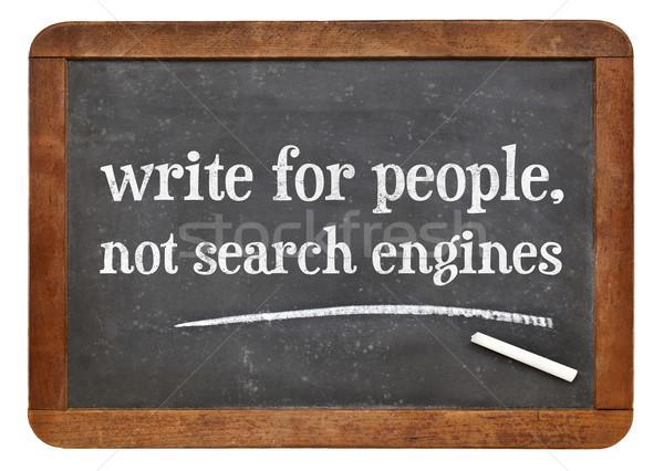 написать люди не поисковая содержание совет Сток-фото © PixelsAway