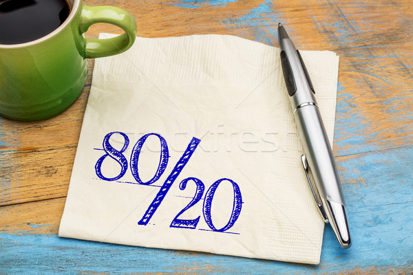 Pareto principle on napkin Stock photo © PixelsAway