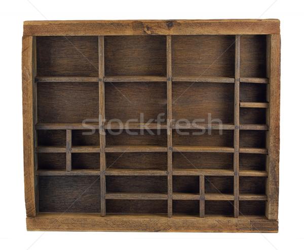 vintage typesetter drawer Stock photo © PixelsAway