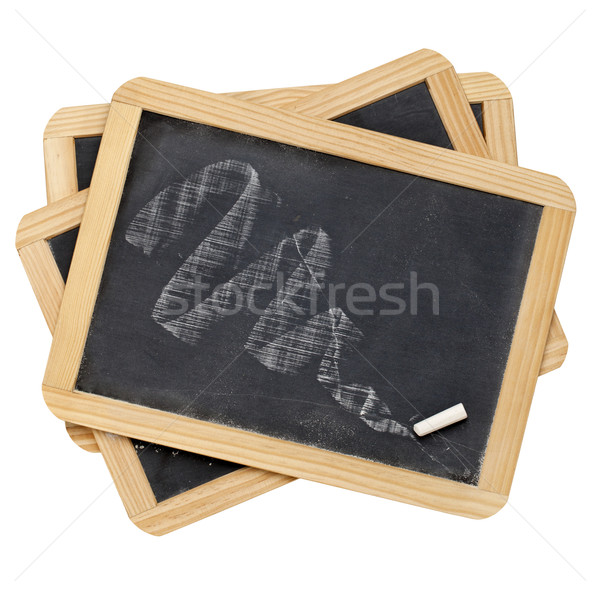 chalk smudge on slate blackboard Stock photo © PixelsAway