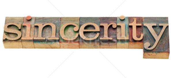 sincerity word Stock photo © PixelsAway