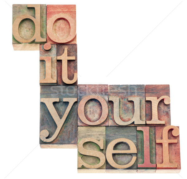 Do it yourself beliebt Kultur Ausdruck isoliert Text Stock foto © PixelsAway