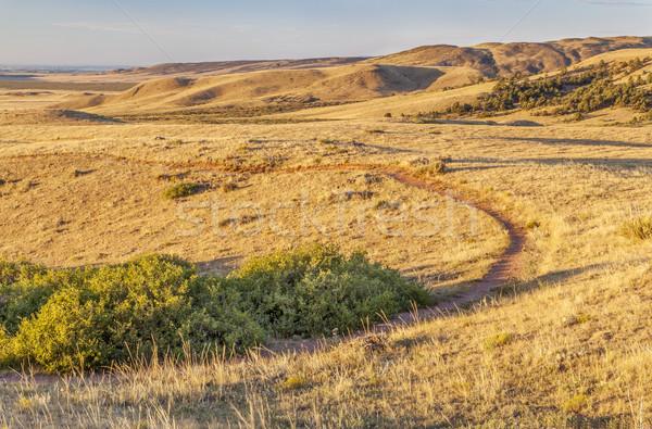 Kır Colorado gündoğumu iz dağlar açmak Stok fotoğraf © PixelsAway