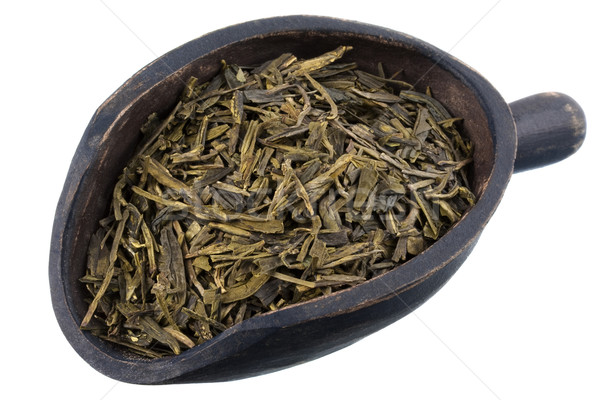 Escavar completo folha solto chá verde rústico Foto stock © PixelsAway
