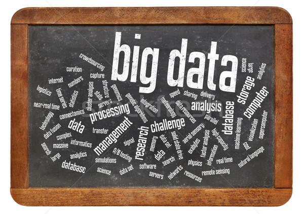 Stok fotoğraf: Büyük · veri · kelime · bulutu · bilgi · teknolojisi · toplama · büyük