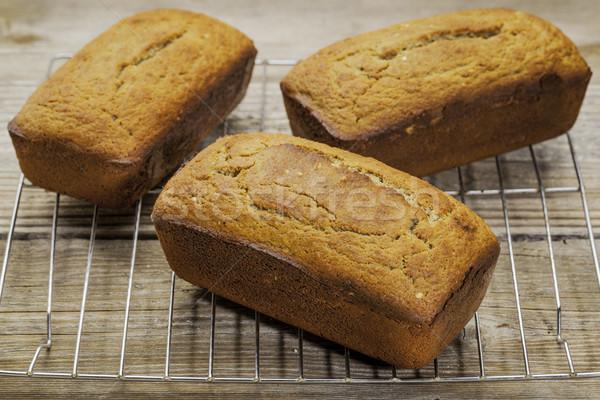 Sem glúten pão três preparado Foto stock © PixelsAway