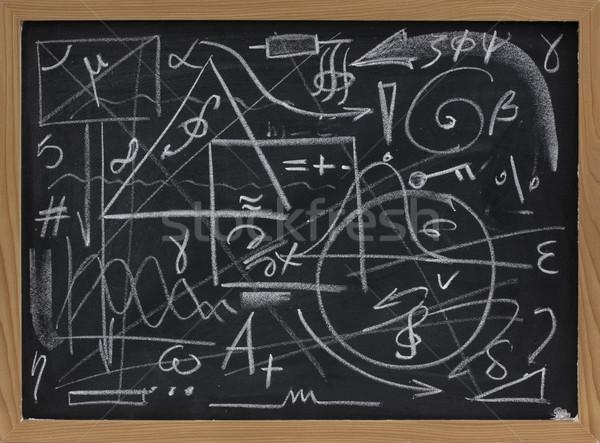 Chaos informatie overbelasten toevallig lijnen meetkundig Stockfoto © PixelsAway