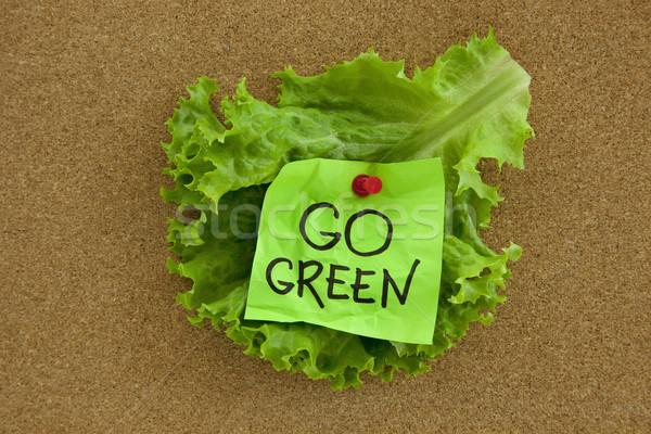 go green concept on bulletin board Stock photo © PixelsAway