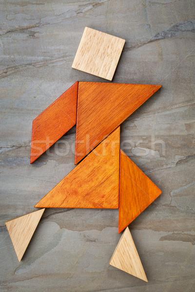 tangram dancing figure Stock photo © PixelsAway