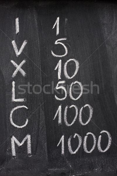 Romano árabe numerais lousa branco Foto stock © PixelsAway