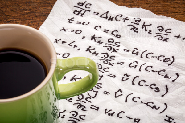 mathematical equations on napkin Stock photo © PixelsAway