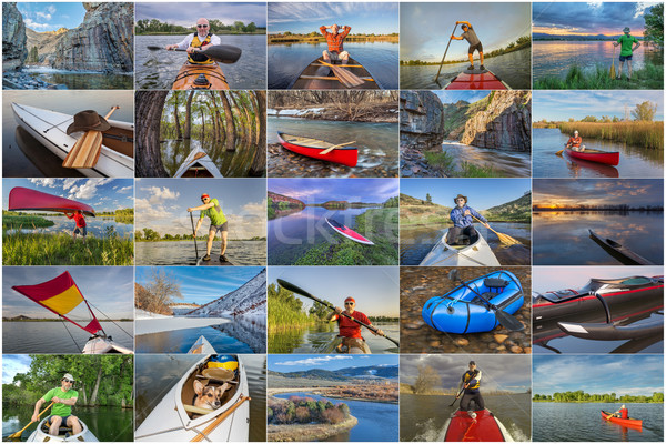 collection of paddling pictures from Colorado Stock photo © PixelsAway