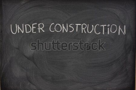 Stock photo: blank blackboard with chalk smudges