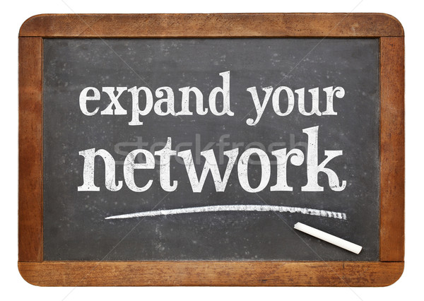 Expand your network advice on blackboard Stock photo © PixelsAway