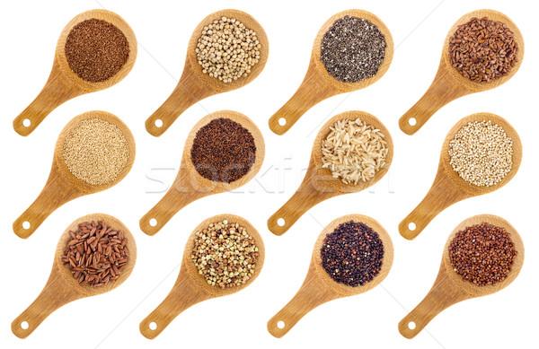 Glutenvrij zaden abstract variëteit bruin Stockfoto © PixelsAway