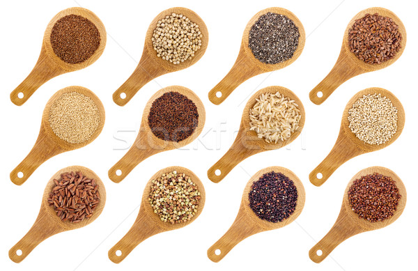 Sin gluten semillas resumen variedad marrón Foto stock © PixelsAway