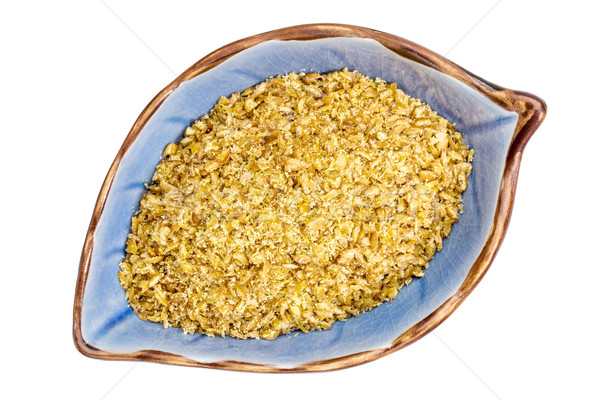 golden flax meal in a bowl Stock photo © PixelsAway