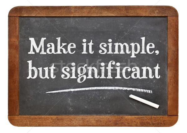 Eenvoudige Blackboard significant witte krijt Stockfoto © PixelsAway