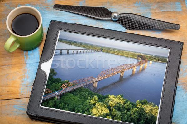 Skał most antena krajobraz fotografii zdjęcia Zdjęcia stock © PixelsAway
