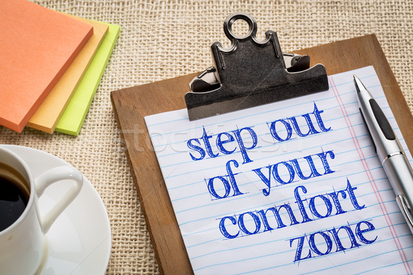 Step out of your comfort zone Stock photo © PixelsAway