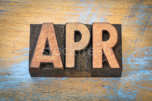 Apr - April month abbreviation in wood type Stock photo © PixelsAway