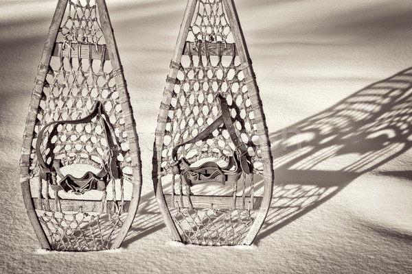 vintage Huron snowshoes abstract Stock photo © PixelsAway