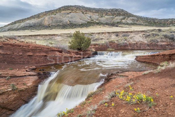 creek with waterfalls at Colorado foothills Stock photo © PixelsAway