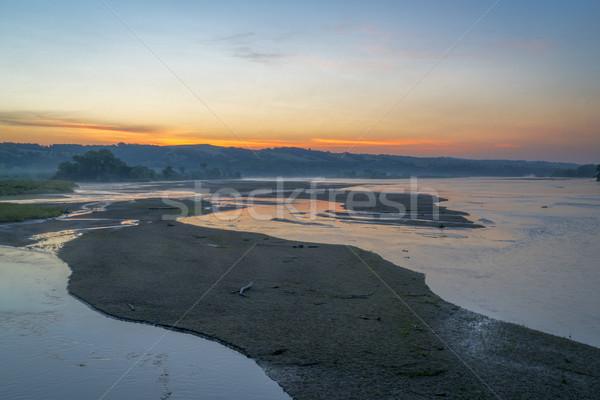 Cênico rio verão cenário madrugada Foto stock © PixelsAway