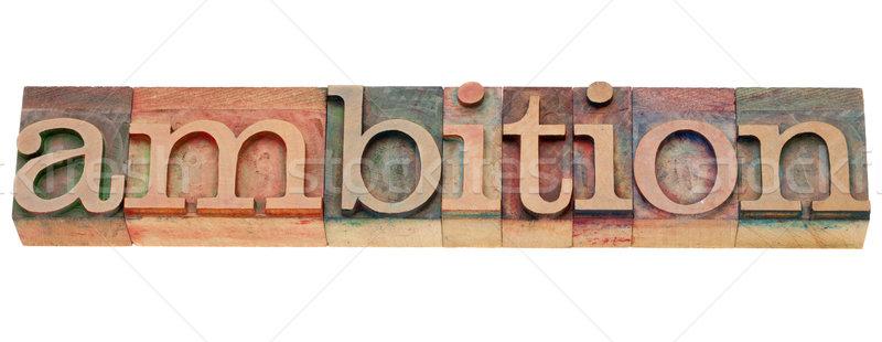 амбиция слово тип изолированный Vintage Сток-фото © PixelsAway