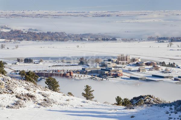 Fort Colorado universiteit gebouw zonne-boerderij winter Stockfoto © PixelsAway
