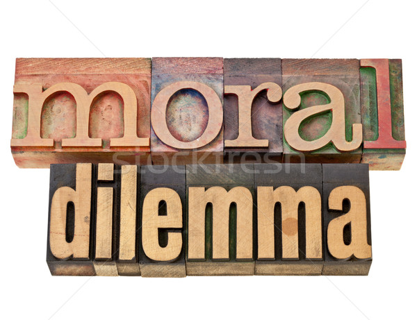 moral dilemma Stock photo © PixelsAway