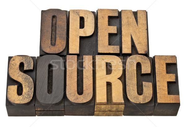Abrir fonte software software de computador isolado texto Foto stock © PixelsAway
