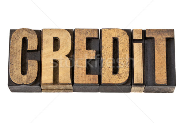 credit word in wood type Stock photo © PixelsAway
