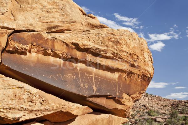 ancient rock art with snake  Stock photo © PixelsAway