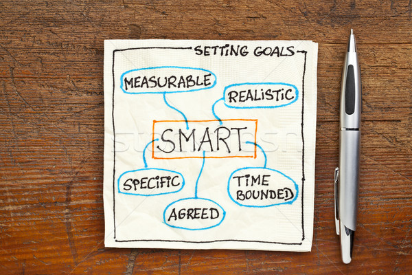 goal setting concept - SMART Stock photo © PixelsAway