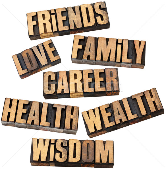 career, family, health and other values Stock photo © PixelsAway