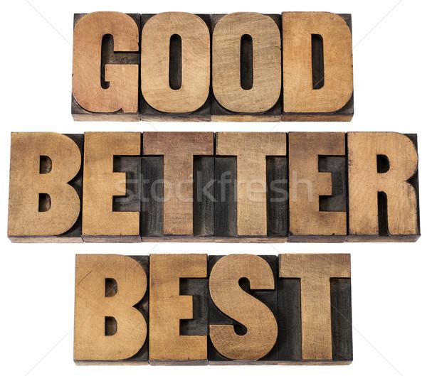 Jó jobb legjobb fa kollázs Stock fotó © PixelsAway