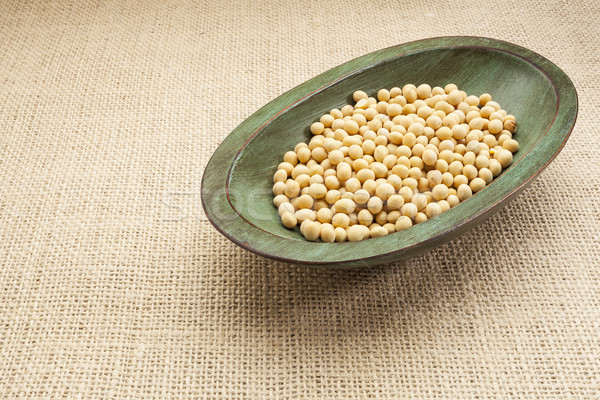 soybeans in rustic bowl Stock photo © PixelsAway