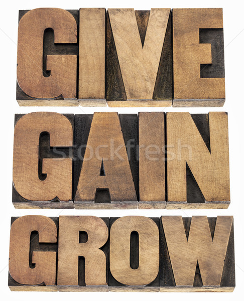 give, gain and grow Stock photo © PixelsAway