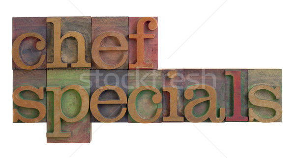 chef specials Stock photo © PixelsAway