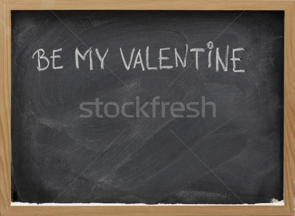 ストックフォト: バレンタイン · 黒板 · フレーズ · 白